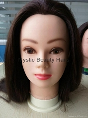 100% Human Hair Mannequin Head Training Head for Salon Use
