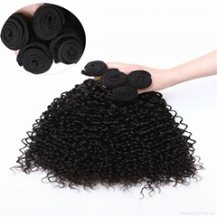 Malaysian Peruvian Brazilian Curly Hair Weaves Jerry Curl Unprocessed Human Hair