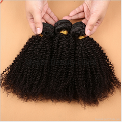 8A Grade Unprocessed Virgin Brazilian Human Hair Afro Kinky Curly Weaves