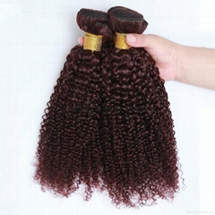 Brazilian Curly Human Hair Bundles Extension 3 Bundles Jerry Curl Hair Weaves