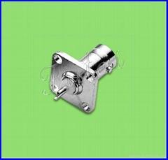 BNC female square  flange solder connector