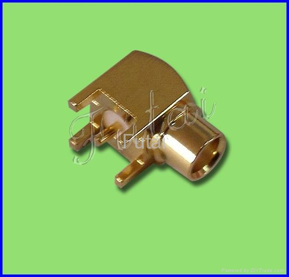 MMCX Male Right Angle Connector for PCB 1