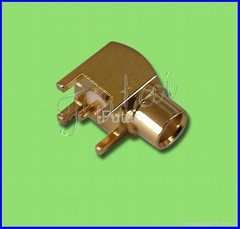 MMCX Male Right Angle Connector for PCB