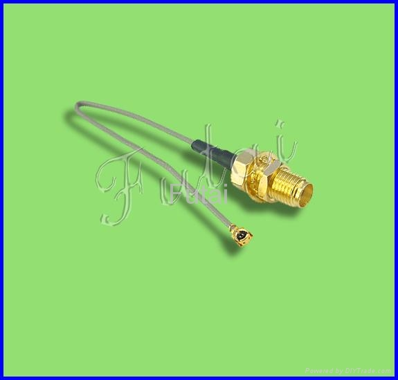 SMA Female Bulkhead Connector to IPEX with 1.13 /0.81/1.37 Pigtail Cable  1