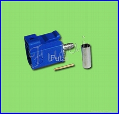 Blue Fakra Male Crimp for RG174 Connector-Fakra connector