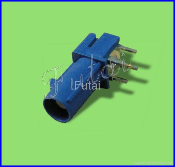 Blue Fakra Femal Right Angle PCB Mount Connector-Fakra Connector 1