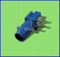 Blue Fakra Femal Right Angle PCB Mount