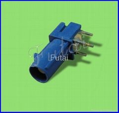 Blue Fakra Femal Right Angle PCB Mount Connector-Fakra Connector