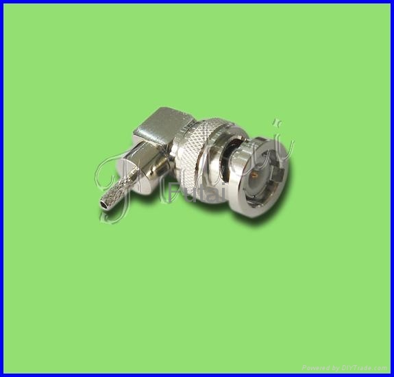 BNC Male R/A RF Coaxial Connector for RG174/316 Cable 1