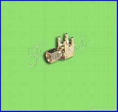SMA R/A PCB Male RF Coaxial Connector