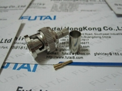 BNC Male Straight Crimp RF Coaxial Connector
