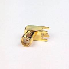 SMA Female Right Angle  PCB RF Coaxial connector (Hot Product - 1*)