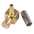 High Quality RG174/316 Cable MCX Male Right Angle Connector