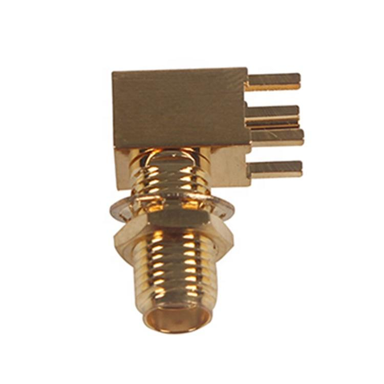ROHS SMA PCB Female Right Angle RF Connector 1