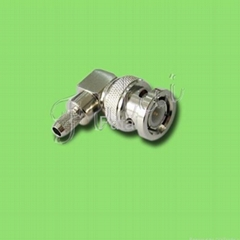 BNC Male Right Angle Connector for RG58U Cable