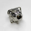 Excellent Performance N Female to N Female with Flange Mount Adapter  3