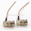 Strip BNC Male Right Angle Cable