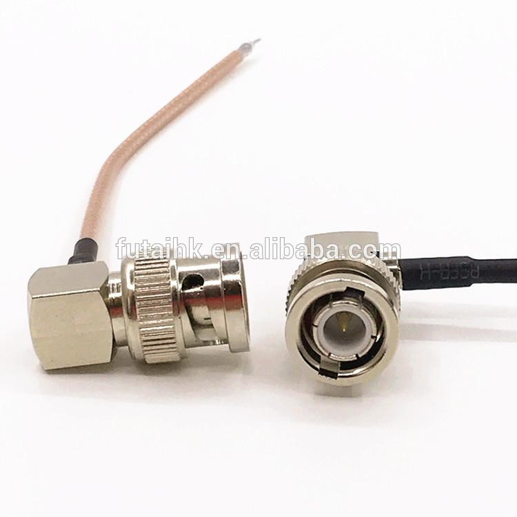 Strip BNC Male Right Angle Cable  3