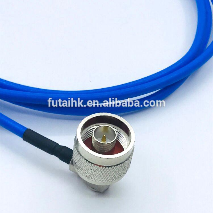 N Male Right Angle to N Male Connector with RG141 Cable  3
