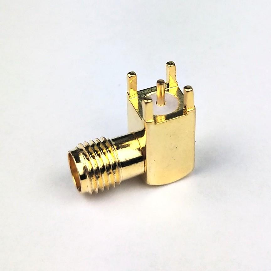 RF Coaxial SMA Female Right Angle PCB connector 1