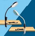 防静电台夹式放大镜带LED多功能维修工作台灯 2