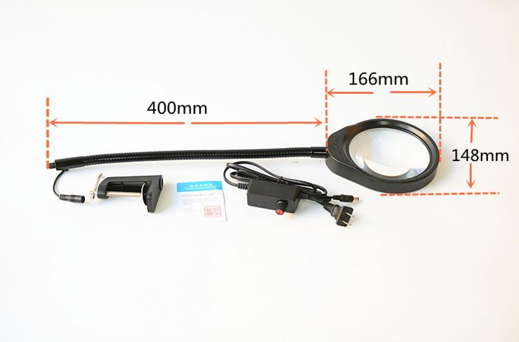 防静电台夹式放大镜带LED多功能维修工作台灯 7
