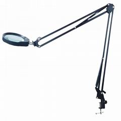 防靜電台夾式放大鏡帶LED多功能維修工作臺燈