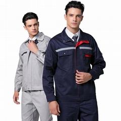 多款式工作服防静电防阻燃厨师服保洁服分体连体服