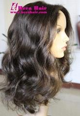 Cheap Wavy Human Hair Full Lace Wigs