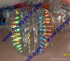 glow bumper ball/colour inflatable crash bumper ball