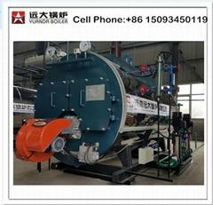 Fire tube industrial oil steam boiler