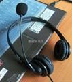 厂家批发高品质单耳头戴式usb话务中心耳机 2