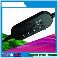 電腦耳機usb線控板 耳麥線控可定製