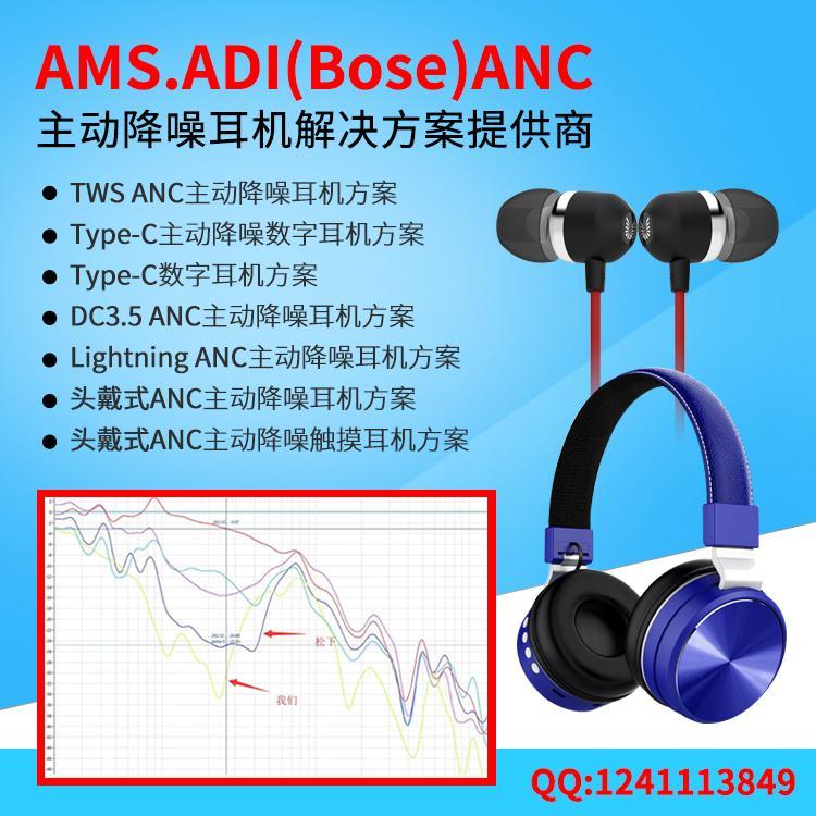 降噪耳機 ANC主動降噪藍牙耳機方案定製 4
