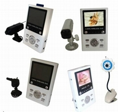 Wireless Monitor (Pinhole/IR wireless camera,  receiver)SD DVR Baby Monitor