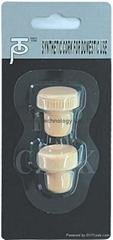 Blister packed synthetic cork wine bottle stopper TBG5