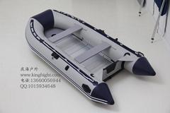 夾網硬底船鋁合金底充氣艇衝鋒船