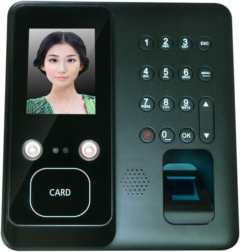 面部識別指紋刷卡門禁考勤機 1