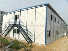 拆装式K型岩棉带走廊地铁彩钢活动房