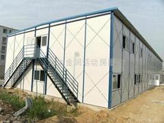 北京拆裝式岩棉防火工地彩鋼活動板房屋