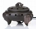 紫砂三羊開泰電子香燻爐 3