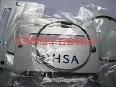 鋼絲繩氧化鋁制行李牌