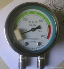 高靜壓差壓表,天津不鏽鋼耐震差壓表K0220