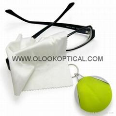 鑰匙扣眼鏡清潔布包