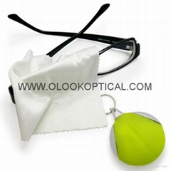 Micrefibre cleaning cloths with keychain