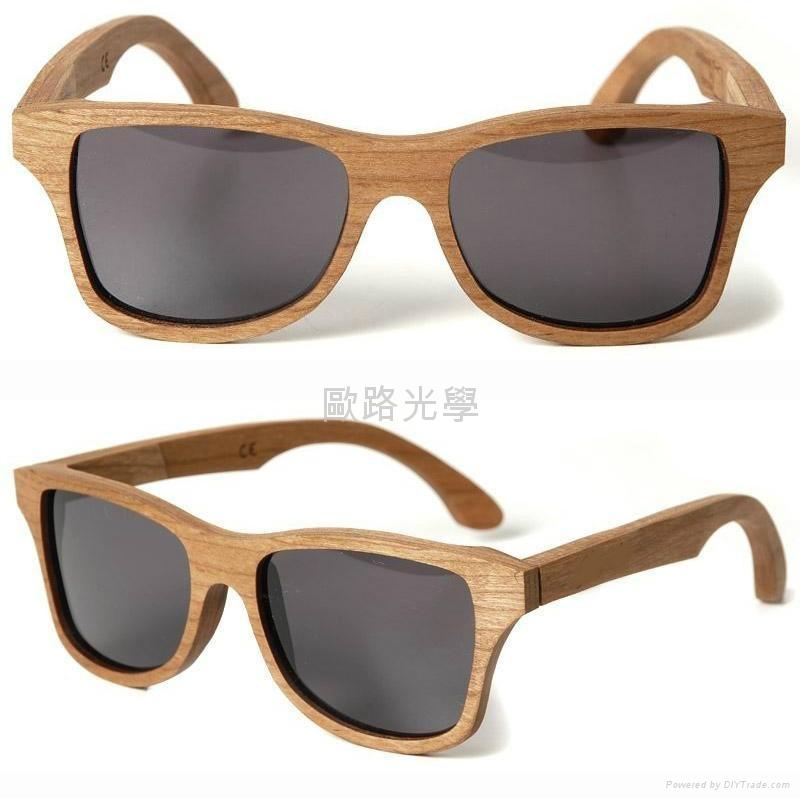Wood frame Sunglasses, bamboo sunglasses, Skateboard wood sunglasses -