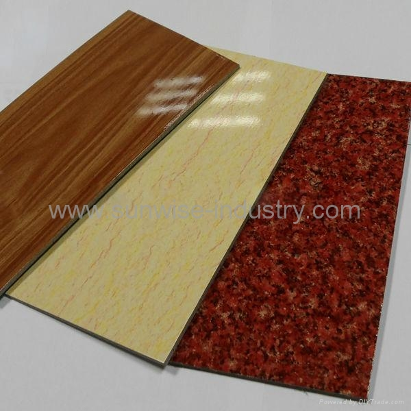 Solid metallic and marble design color for aluminum for Aluminium composite panel interior decoration
