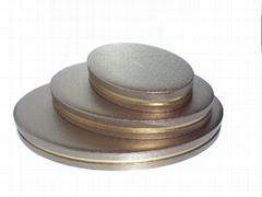 Oval lid+bottom w/gap, l