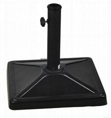 Simple square model concrete umbrella base