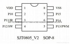 红外遥控LED调光IC